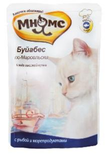 Мнямс паучи для кошек Буйабес по-Марсельски (рыба с морепродуктами) 85 г