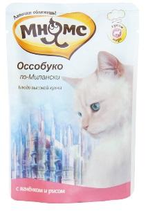 Мнямс паучи для кошек Оссобуко по-Милански (ягненок с рисом) 85 г