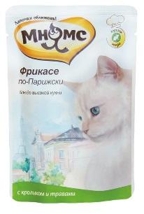 Мнямс паучи для кошек Фрикасе по-Парижски (кролик с травами) 85 г