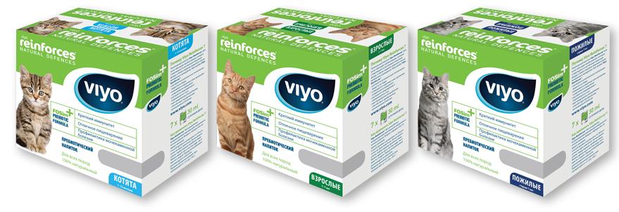 Применении Viyo для кошек