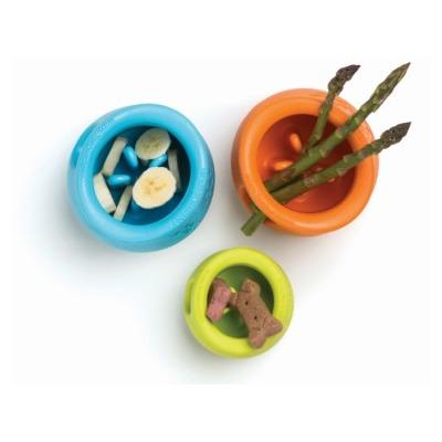 Zogoflex Игрушка под лакомства для собак Toppl S оранжевая (фото, вид 2)