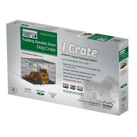 """MidWest Клетка iCrate Double Door 36"""" двухдверная для щенков и средних собак, черная (фото, вид 1)"""