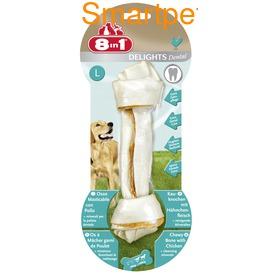 8in1 Косточки с куриным мясом и минералами для чистки зубов у собак Dental Delights (фото, вид 2)