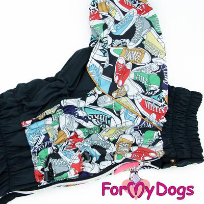 ForMyDogs Дождевик на крупные породы собак Кеды мальчик (фото, вид 1)