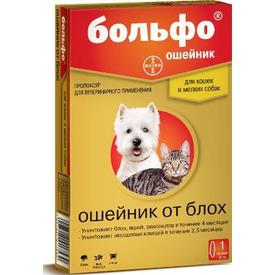 Bayer Ошейник Больфо от блох и клещей для собак (фото, вид 1)