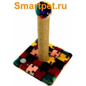 Зооник Когтеточка-столб на подставке (фото, вид 1)