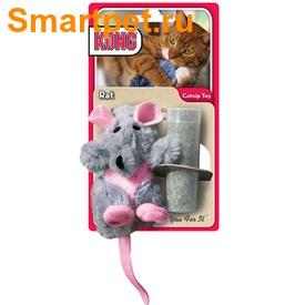 """Kong Игрушка для кошек """"Крыса"""" плюш и кошачья мята (фото, вид 2)"""