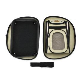 Ibiyaya Складная сумка-переноска для собак и кошек до 6кг бежевая (фото, вид 1)