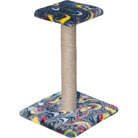 Зооник Когтеточка-столб с полочкой (фото, вид 1)