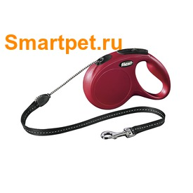 Поводок-рулетка flexi New Classic M, трос 5 метров, для собак до 20 кг (фото, вид 3)