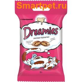Dreamies Лакомые подушечки с Говядиной (фото, вид 1)