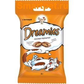 Dreamies Лакомые подушечки с Курицей (фото, вид 1)