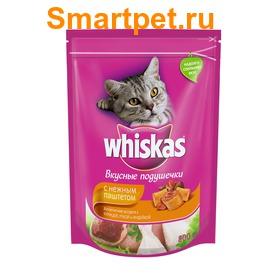 Whiskas Сухой корм для кошек подушечки/паштет Курица/Утка/Индейка (фото, вид 1)