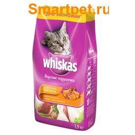 Whiskas Сухой корм для кошек подушечки/паштет Курица/Утка/Индейка (фото, вид 2)