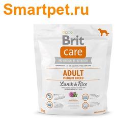Brit Care Adult Medium Breed Lamb&Rice для собак средних пород с ягненком (фото, вид 1)