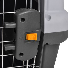 Переноска MPS SKUDO №6 с металлической дверцей с замком серая (фото, вид 3)
