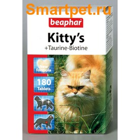 BEAPHAR Kitty's + Taurin + Biotin - витамины с биотином и таурином (фото, вид 1)