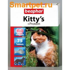 BEAPHAR Kitty's + Protein - витамины в виде лакомства с протеином (фото, вид 1)