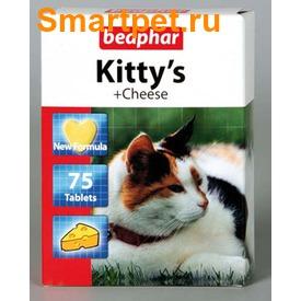 BEAPHAR Kitty's + Cheese - витамины в виде лакомства с сыром для кошек (фото, вид 1)