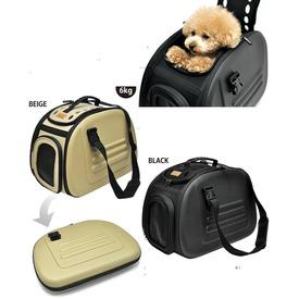 Ibiyaya Складная сумка-переноска для собак и кошек до 6кг бежевая (фото, вид 3)