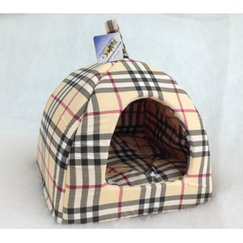 Бобровый дворик Домик для собак и кошек Шотландка светлая (фото, вид 1)