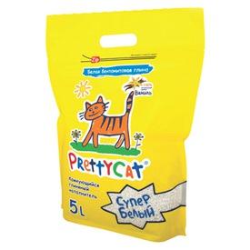 PrettyCat Наполнитель для кошачьего туалета Cупер белый с ванилью (фото, вид 2)
