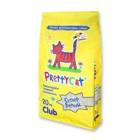 PrettyCat Наполнитель для кошачьего туалета Cупер белый с ванилью (фото, вид 3)