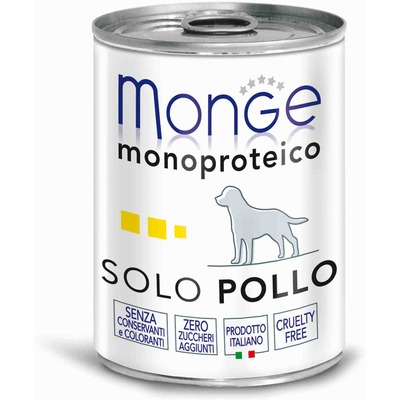 Monge Dog Monoprotein Solo консервы для собак паштет из курицы (фото, вид 1)