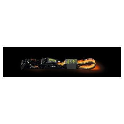 Hunter Ошейник для собак светодиодный Manoa Glow LED оранжевый (фото, вид 3)