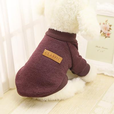 4 My Pets Теплый свитер для маленьких собак Classic на флисе коричневый (фото, вид 1)