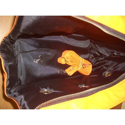 DOGMAN Сумка переноска для собак Лето из кожзама оранжевая (фото, вид 3)