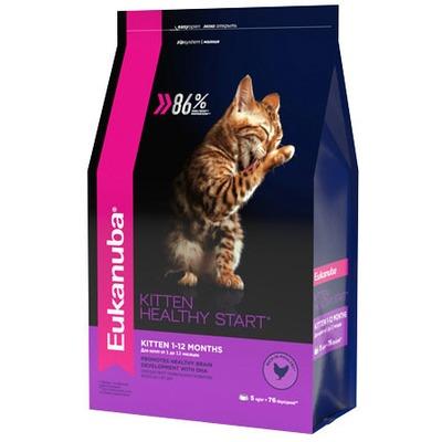 Eukanuba Сухой корм для котят с домашней птицей. Kitten healthy start (фото, вид 1)