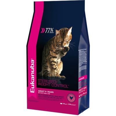 Eukanuba Сухой корм для взрослых кошек с избыточным весом и стерилизованных. Adult sterilised/ Weight control (фото, вид 1)