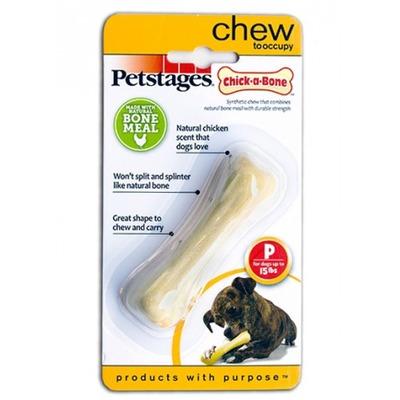 Petstages Игрушка для собак Chick-A-Bone косточка с ароматом курицы (фото, вид 2)