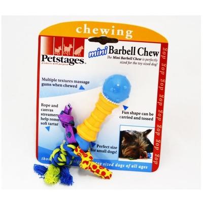 Petstages Игрушка для собак мелких пород Mini Гантель (фото, вид 1)