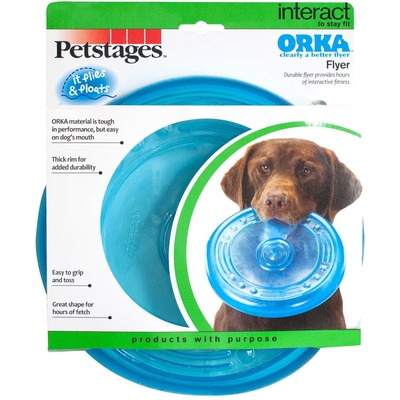 Petstages Игрушка для собак Орка-летающая тарелка (фото, вид 2)
