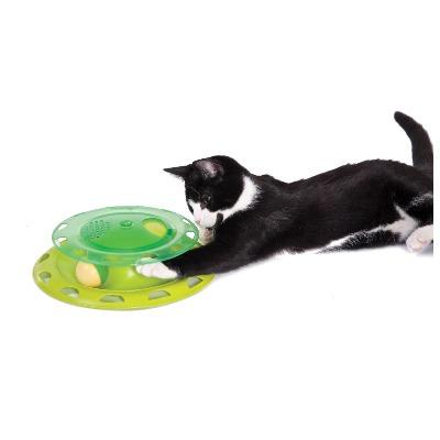 Petstages Игрушка для кошек Трек с контейнером для кошачьей мяты (фото, вид 1)