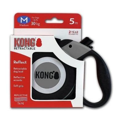 Поводок-рулетка Kong Reflect M (до 30 кг) лента 5 метров (фото, вид 1)