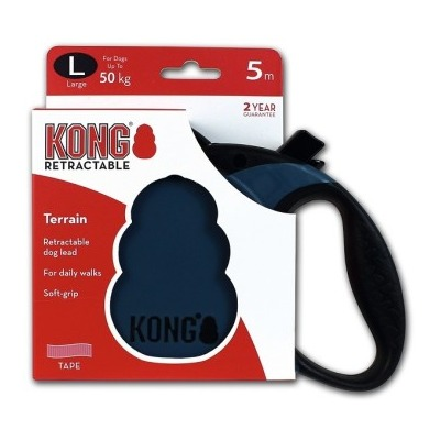 Поводок-рулетка Kong Terrain L (до 50 кг) лента 5 метров (фото, вид 1)