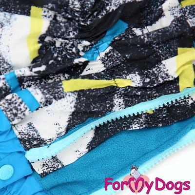 ForMyDogs Комбинезон для маленьких собак на флисе для мальчиков (фото, вид 1)