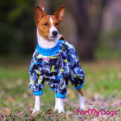 ForMyDogs Комбинезон для маленьких собак на флисе для мальчиков (фото, вид 2)