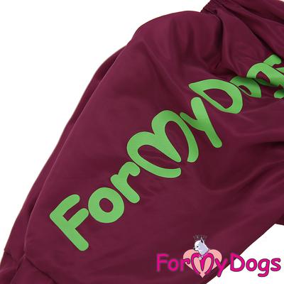 ForMyDogs Дождевик для крупных собак Листья бордовый для девочек (фото, вид 2)