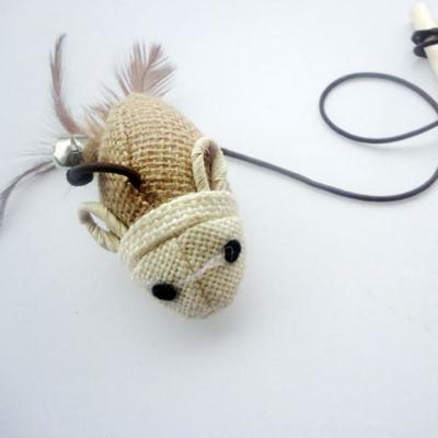 Smartpet Игрушка для кошек Эко-дразнилка с мышкой (фото, вид 1)