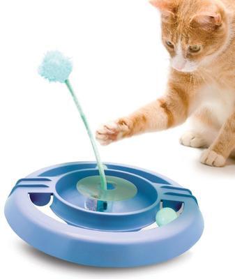 Petstages Игрушка для кошек Трек-неваляшка (фото, вид 1)