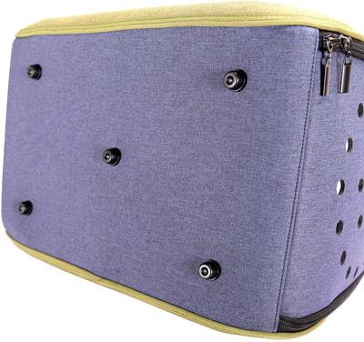 Ibiyaya Складная сумка-переноска для собак и кошек до 6 кг прозрачная/зеленая (фото, вид 6)