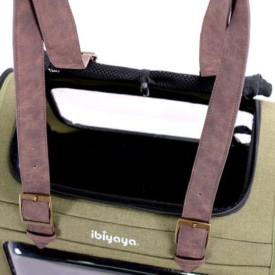 Ibiyaya Складная сумка-переноска для собак и кошек до 6 кг прозрачная/зеленая (фото, вид 7)