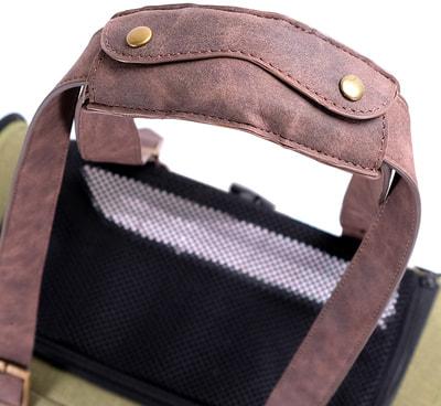Ibiyaya Складная сумка-переноска для собак и кошек до 6 кг прозрачная/зеленая (фото, вид 8)