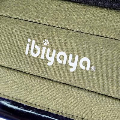 Ibiyaya Складная сумка-переноска для собак и кошек до 6 кг прозрачная/зеленая (фото, вид 9)