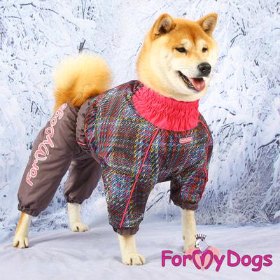 ForMyDogs Комбинезон для крупных собак Серо-розовый, девочка (фото, вид 6)