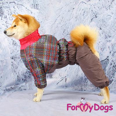 ForMyDogs Комбинезон для крупных собак Серо-розовый, девочка (фото, вид 5)